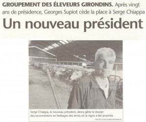 « Un nouveau Président pour le GEG… »