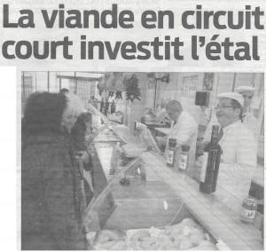 31 janvier 2012, « Ouverture de la 4ème boucherie des Eleveurs Girondins, la Boucherie de la Métropole, dans le centre-ville de Mérignac… »