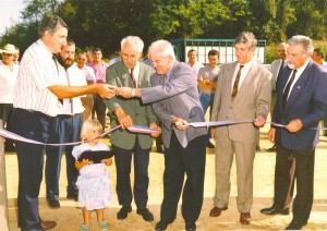 Inauguration du centre d'allotement de Gironde sur Dropt par Philippe MADRELLE le 20 septembre 1991