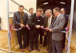 Inauguration de l'Antenne des hauts de Gironde par Alain RENARD et Claude BROY le 25 octobre 1992