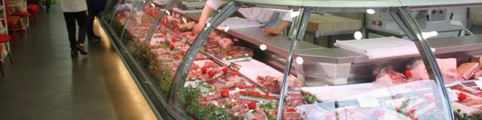étal de la boucherie des Eleveurs Girondins à Mérignac