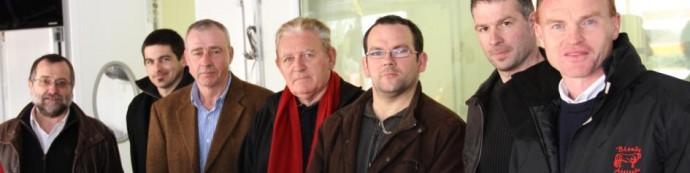 La délégation bretonne aux côtés de Philippe NOMPEIX, avec au premier plan le Président de l'Association