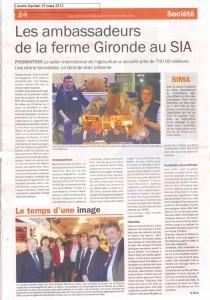La Gironde à Paris - Avenir Aquitain 15 mars 2013