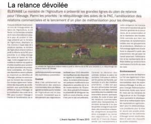 plan de relance agricole - Avenir Aquitain 15 mars 2013