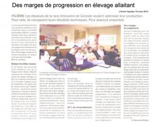 réunion technique en élevage allaitant - Avenir Aquitain 15 mars 2013