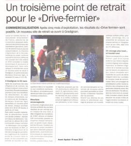 le troisième drive fermier ouvre ses portes - Avenir Aquitain 15 mars 2013