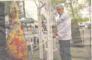 grillade de la cuisse de boeuf - photo du journal Sud Ouest 31 aout 2013