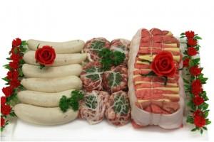 boudins blancs truffés, crépinettes au Sauterne, rôti de veau Orloff
