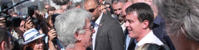 Manuel VALLS déguste la viande des Eleveurs Girondins