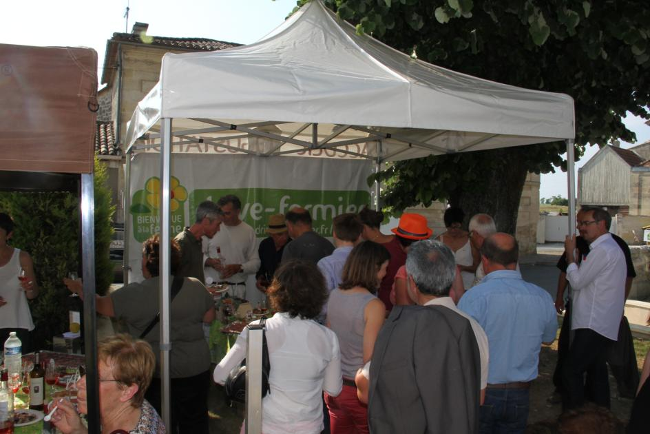 inauguration du drive-fermier à Daignac - 5 juin 2015