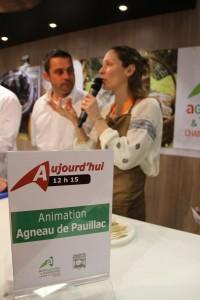 présentation agneau de Pauillac salon de Paris 2016